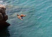 Sprung ins Mittelmeer
