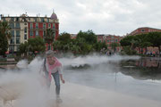 neuer Brunnen im Park jardin albert 1er