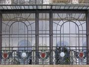 Glasfassade am Hotel Régina