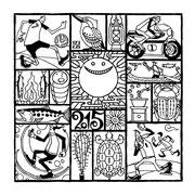 欧風居酒屋「太陽讃歌」 2015年寒中見舞い用イラスト