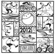 欧風居酒屋「太陽讃歌」 2012年寒中見舞い用イラスト