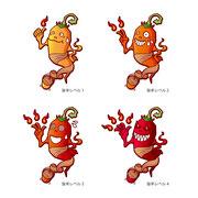 「とんがらし麺」キャラクター コンペ応募作品(不採用)