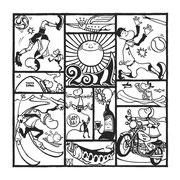 欧風居酒屋「太陽讃歌」 2011年寒中見舞い用イラスト