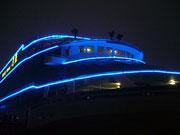 Unser Schiff bei Beleuchtung