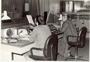 Damals waren noch drei Personen bei einer Sendung beschäftigt