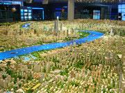 Riesiges Modell von Shanghai
