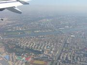 Landeanflug Peking