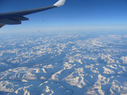Flug über Sibirien