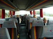 Fahrt mit dem Bus nach Frankfurt
