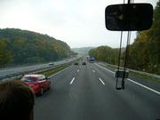 Auf der Autobahn Richtung Frankfurt