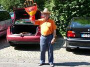 Das Foto hat Paul Engelke vor der Funkhausbesichtigung auf dem Funkhausparkplatz noch von mir gemacht zur Erinnerung an die Weltmeisterschaft