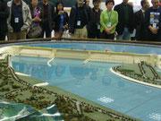 Modell des Drei-Schluchten-Staudamms