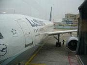 Das Flugzeug Frankfurt - München