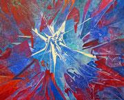 ZUR MITTE, BLAU - 2012 - Acryl - 80x100 cm