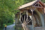 Größtes Wasserrad Bayerns - Gießenbachklamm