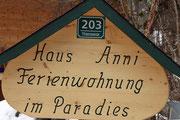 Herzlich Willkommen im Haus Anni