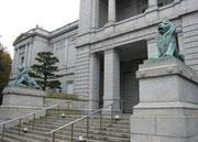 国立博物館表慶館(M41、片山東熊)、ライオン青銅像(M43、大熊氏広)