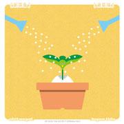 【新芽鳥】「シンメトリーな植物」