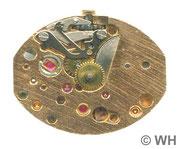 GUB DAU Kal. 09-60 vergoldetes Werk , Zifferblattseite