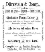 1892 Allgemeines Journal der Uhrmacherkunst  Nr. 20 v.15.Okt. 1. Beilage S. 388