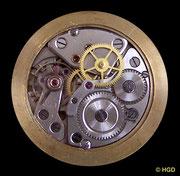 Werkseite Kaliber Kurtz 25 mit Monobloc-Stoßsicherung und Sekunde aus der Mitte