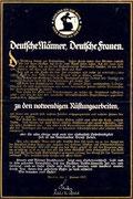 Der an das Deutsche Volk gerichtete Spendenaufruf