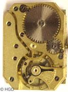 Urofa Kaliber 58 körnig vergoldet Werkseite