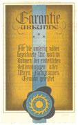 Originaler Garantieschein des Reichsinnungsverbandes