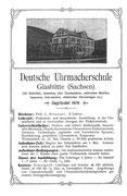 Schülerwerbung der Deutschen Uhrmacherschule von 1904