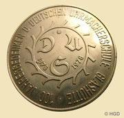 Gedenkmedallie zum 100 Jahre Deutsche Uhrmacherschule