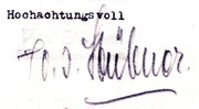 Original Unterschrift von Paul Stübner 1929