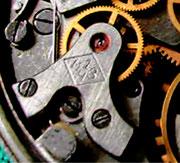 Werksignatur der 1. Moskauer Uhrenfabrik
