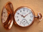 Eine der ersten 1893 in Glashütte gefertigten Taschenuhren der Firma Union Glashütte
