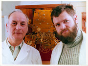 Die Restauratoren von 1984 Karl Friebel (links) & Jürgen Fritsch