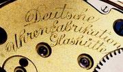 Spätere Signatur der Dreiviertelplatine
