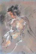 La Faunesse (Pastell) 50 x 65 cm, 1998