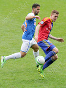 Nassim Ben Khalifa (L, GCZ) gegen Fabian Frei (Basel)