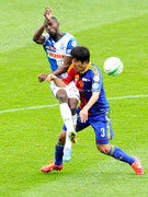 Anatole Ngamukol (L, GCZ) gegen Joo Ho Park (Basel)