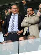 Andre Dose (L, GC Praesident) und Sportchef Dragan Rapic (GCZ) vor dem Spiel