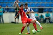 Adam Bodzek (L, Fortuna) gegen Daniel Pavlovic (GCZ)