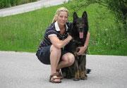 Linda en Ignatz vom Grubenländer Schupo, Berchtesgaden juni 2010