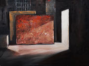 Escena en rojo - 2020 - Óleo sobre tabla entelada 46 x 34 cm