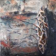 Roots - óleo sobre tela 22 x 22 cm 2021