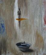 Duele irse - 2018 Óleo s tela - 65 x 81 cm