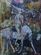 """""""Zwielicht""""   Tinte auf handgeschöpftem Papier  2005"""
