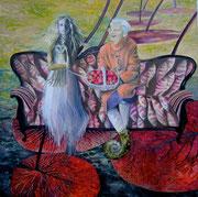 """Großtante Ruth""  Öl auf Leinwand   2012"