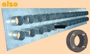 Futterrohr Batterie Stahl Inox oder verzinkt