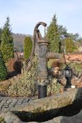 Brunnen auf der Terrasse