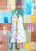 街角のふたり 詩とファンタジー入選作品 アクリル パステル カーボン A4  個人蔵