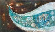 水星  キャンバス アクリル